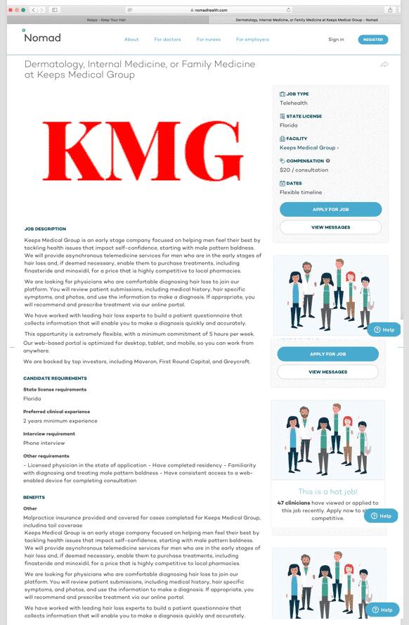 keeps medical doctor job rec