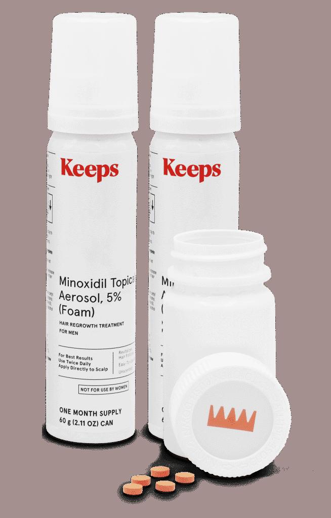 Keeps Minoxidil Foam
