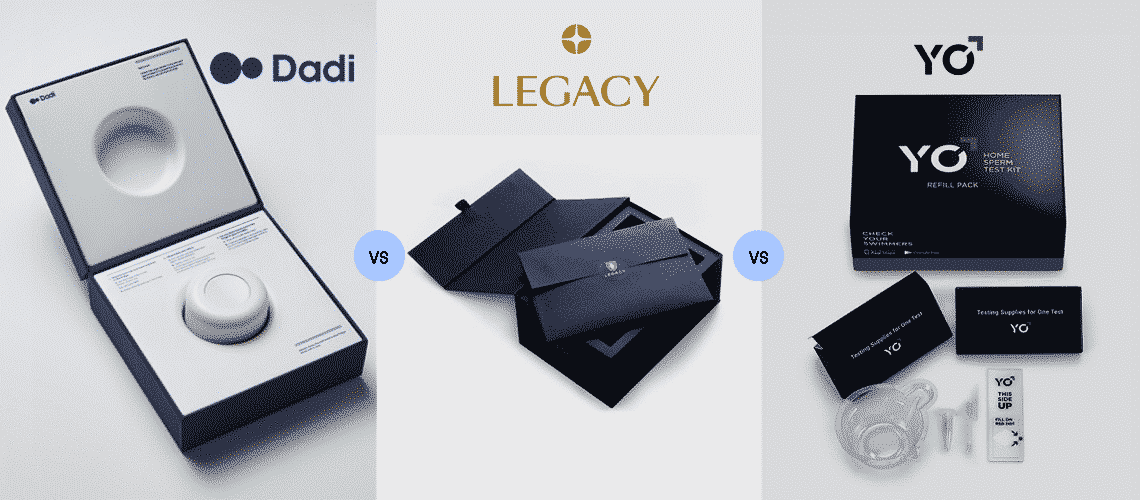Dadi vs Legacy vs YO Sperm: The Best Male Fertility Kits