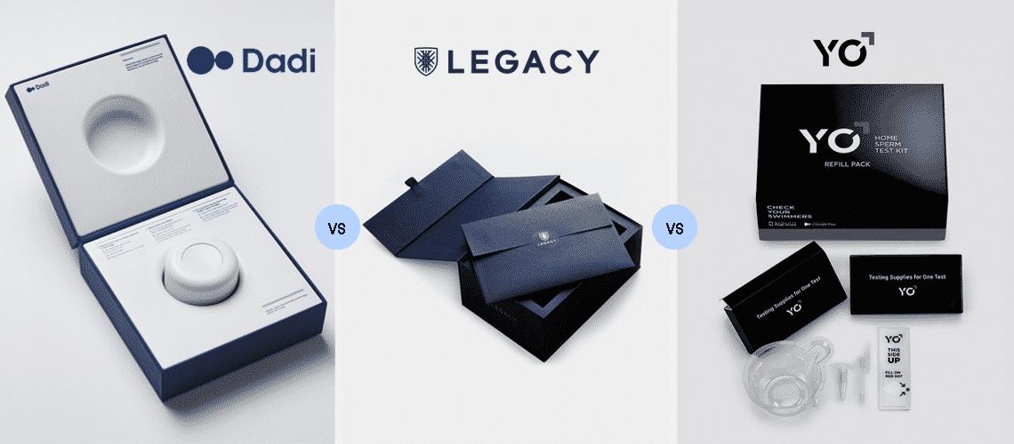 Dadi vs Legacy vs YoSperm