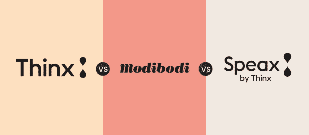 thinx vs modibodi vs speax review