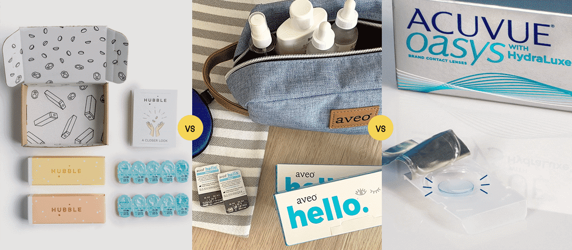 Hubble vs Acuvue vs Aveo
