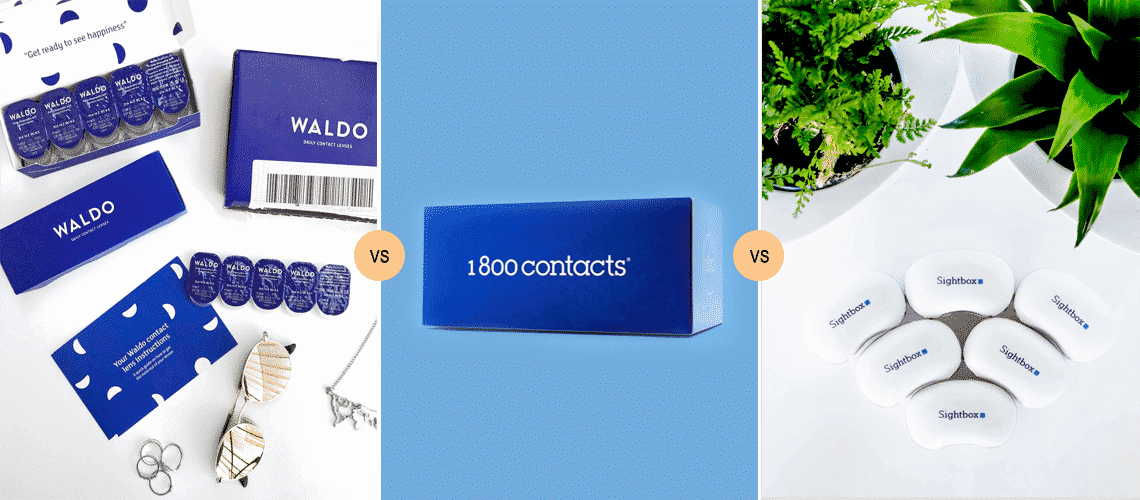 Waldo vs 1800 Contacts vs Sightbox 2