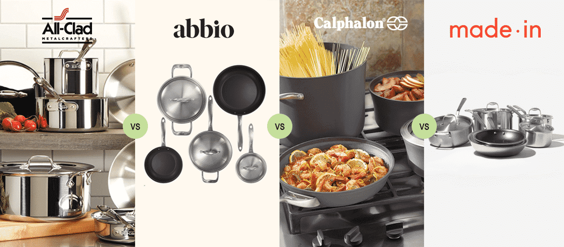 Abbio vs All-Clad vs Made In vs Calphalon: Comparing Cookware Brands Old and New