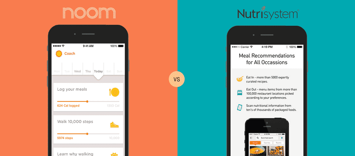 Noom vs Nutrisystem: Which weight loss system is legit?