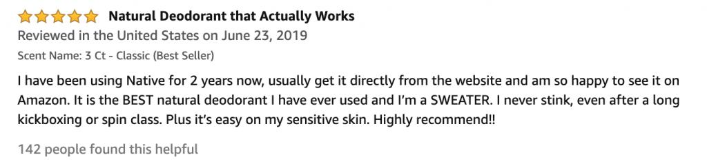 Native Natural Deodorant Review