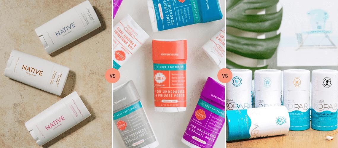 Native vs Lume vs Kopari: Comparing Natural Deodorant