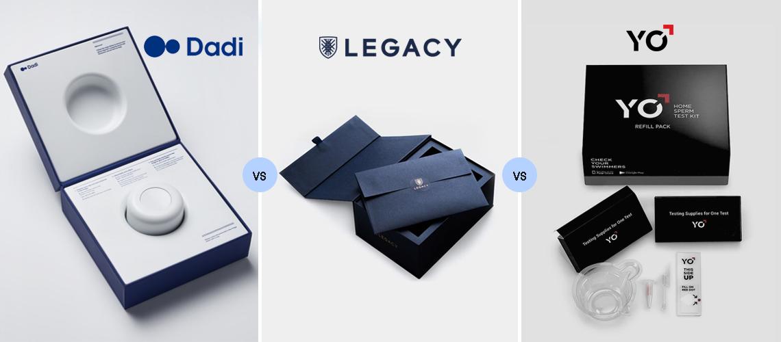 dadi vs legacy vs yo sperm