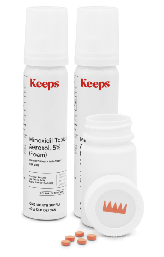 Keeps Minoxidil Foam
