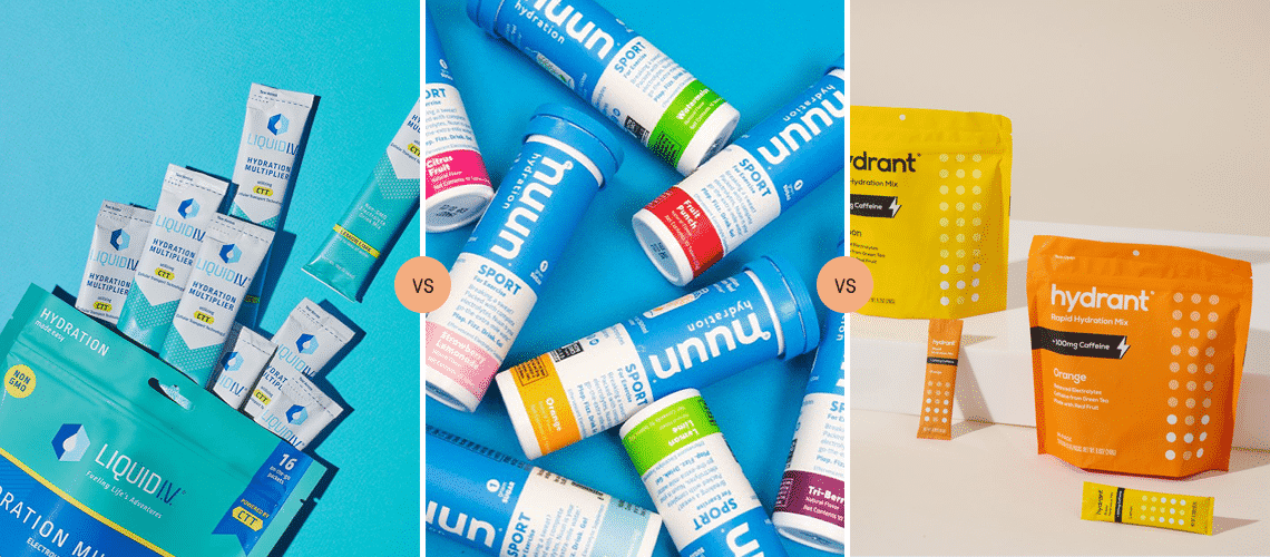 Liquid IV vs Nuun vs Hydrant