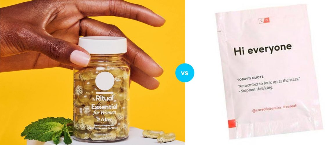 Ritual vs Care/Of vs Honest Co. Womens Vitamins