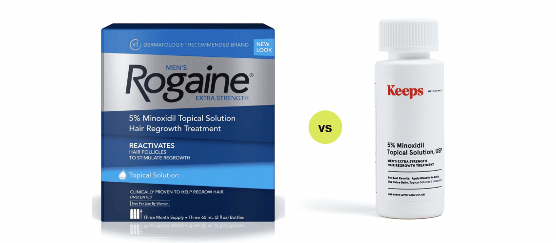 Rogaine vs Keeps Hair Loss Treatments