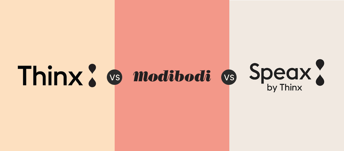 thinx vs modibodi vs speax review