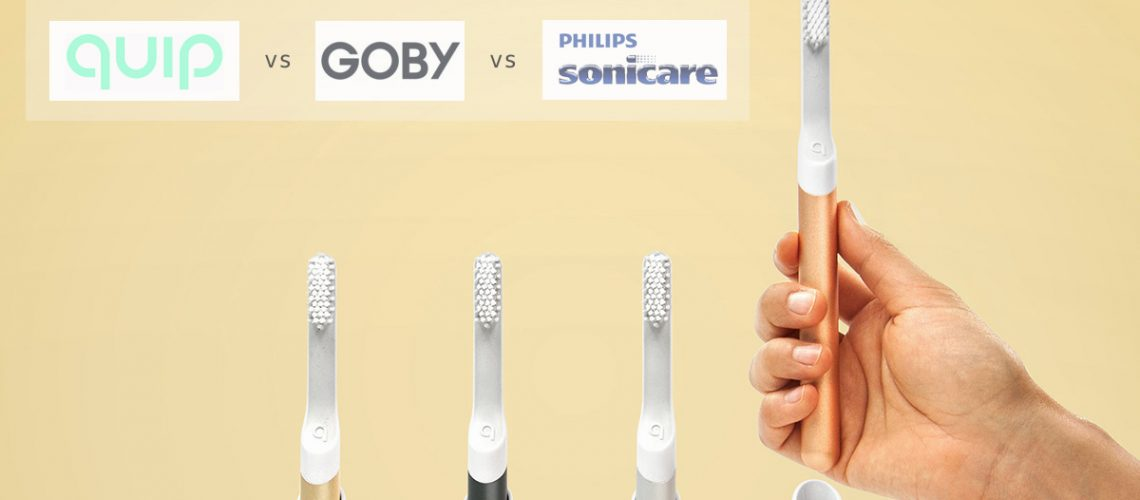 quip vs goby vs sonicare electric toothbrush subscription comparison